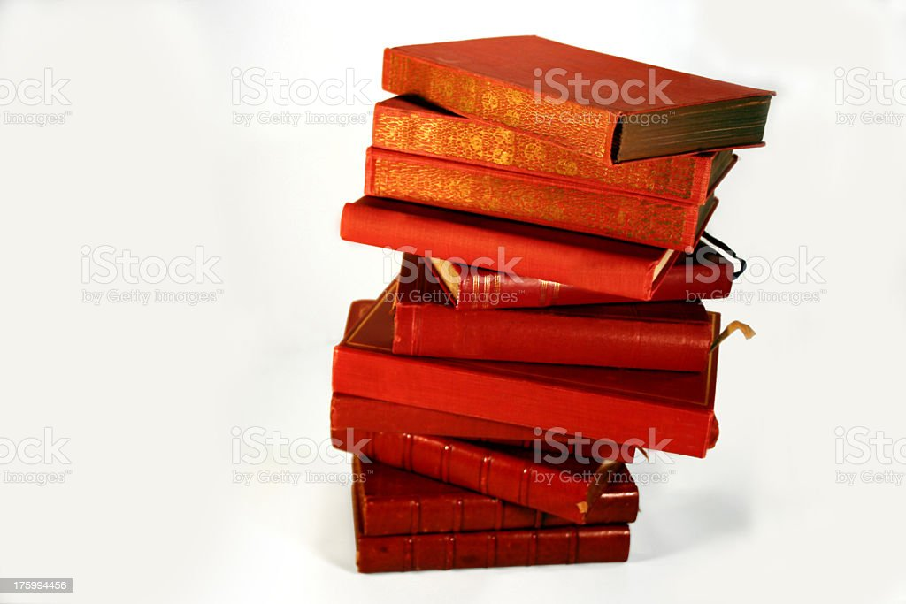 Red and Blue Book Series-No lables royalty-free stock photo