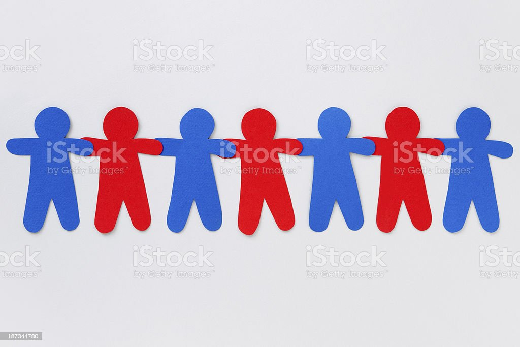 Red and blue boys royalty-free stock photo