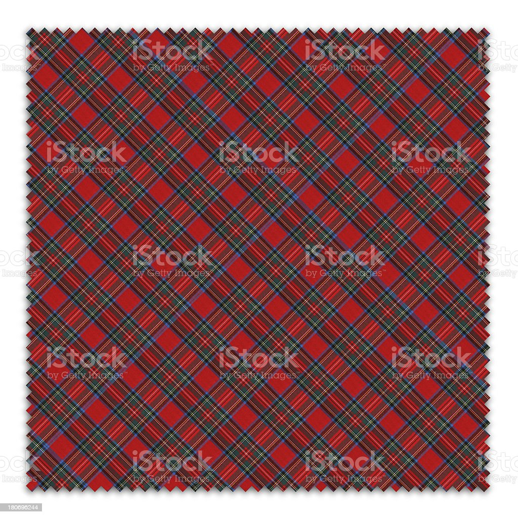 Red and Blue Gingham Tablecloth Swatch royalty-free stock photo