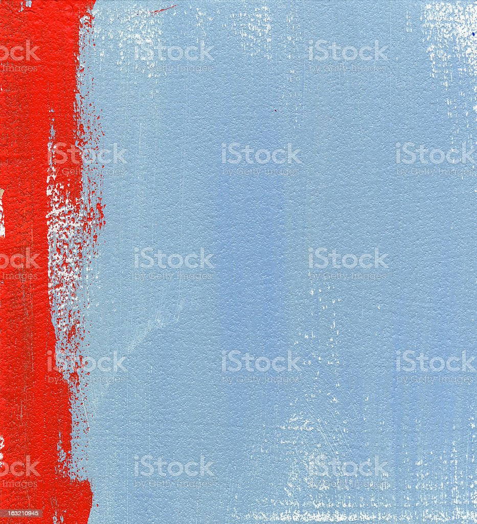Red and Blue Painted Background royalty-free stock photo
