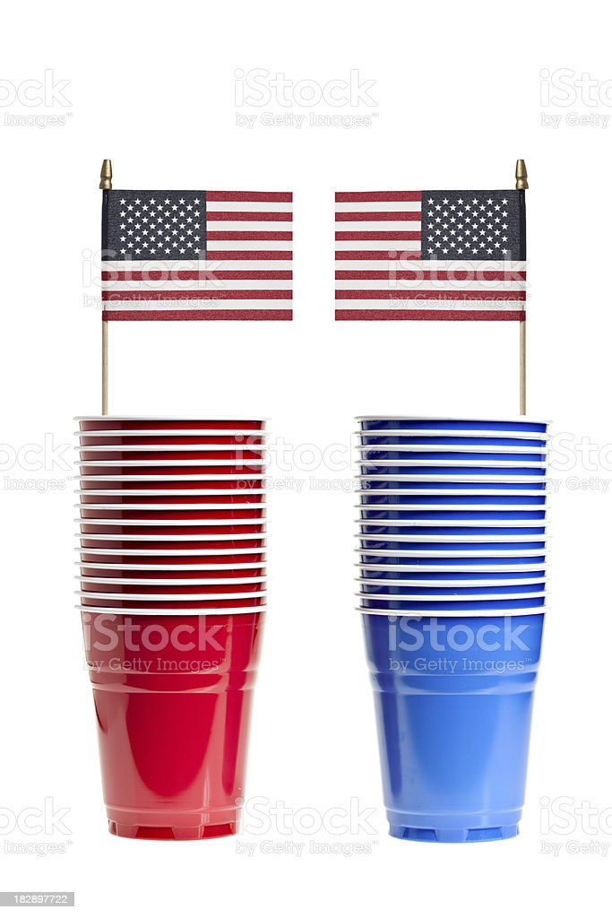 Red And Blue States royalty-free stock photo