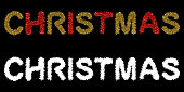 Red and Gold Christmas Tinsel Text with Alpha Mask Channel