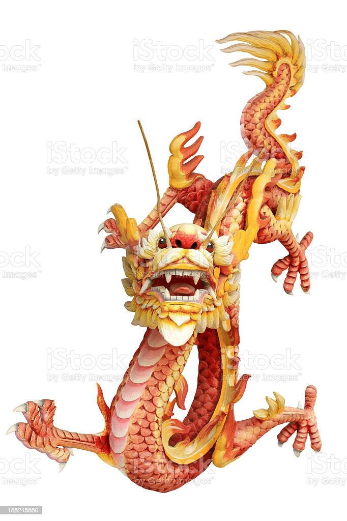Red and Gold dragon stock photo