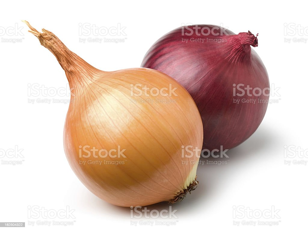 Red and gold onion stock photo
