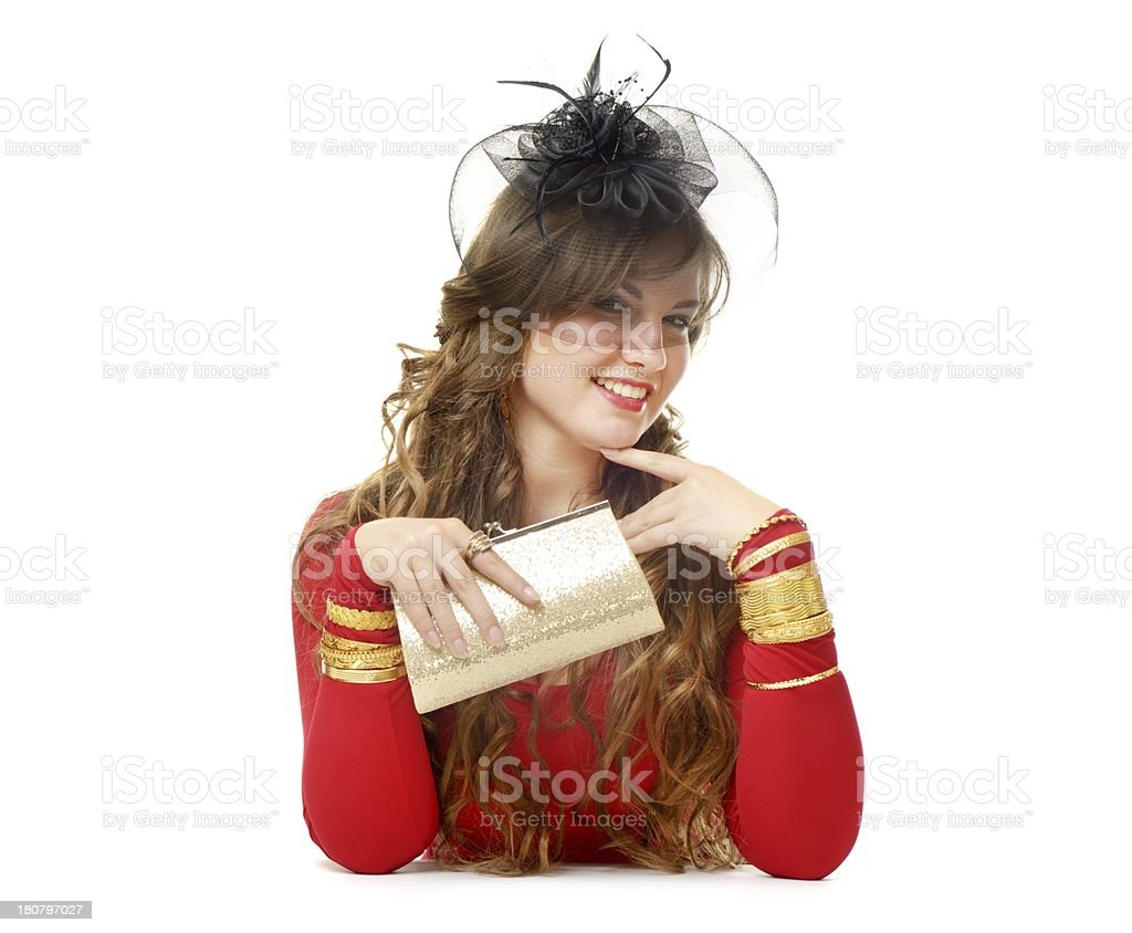 Red and gold royalty-free stock photo