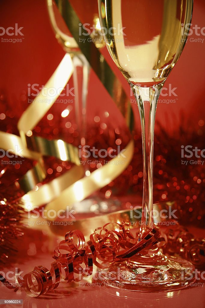 Red and gold sparkle stock photo