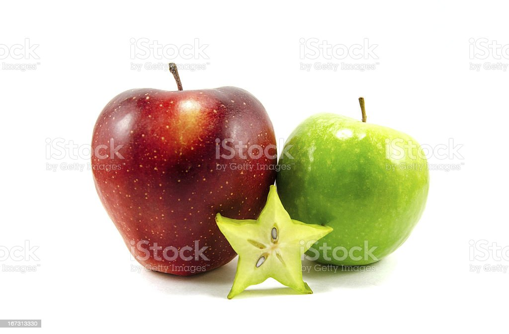 Red and green apples royalty-free stock photo
