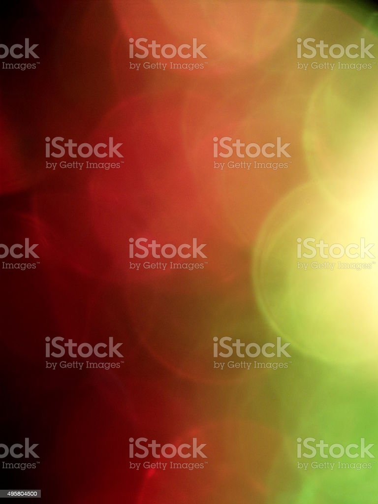 Red and Green Bokeh Background stock photo