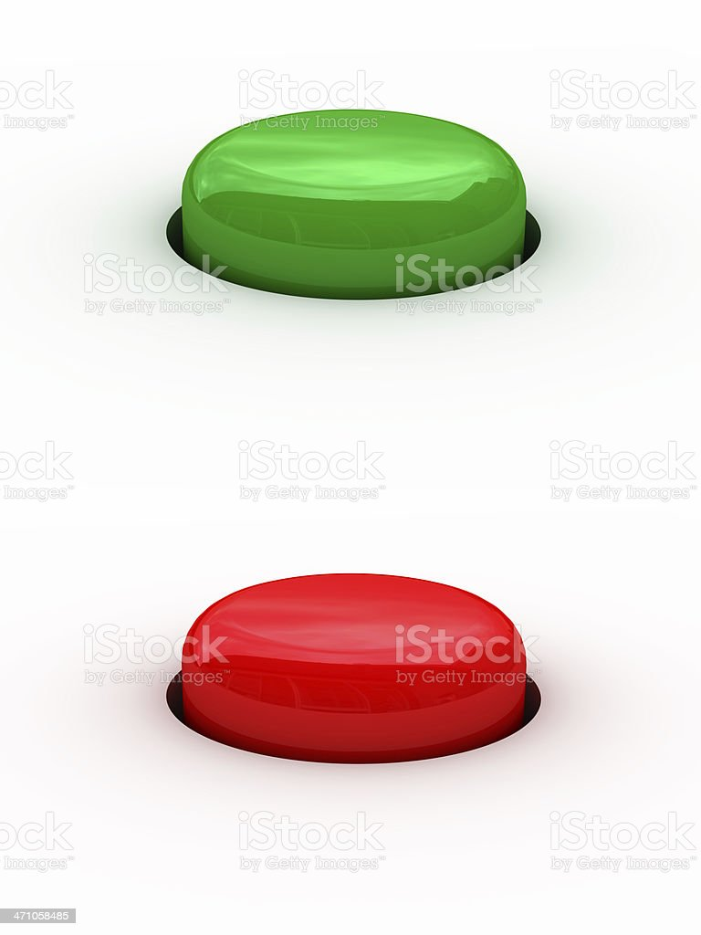 red and green buttons royalty-free stock photo