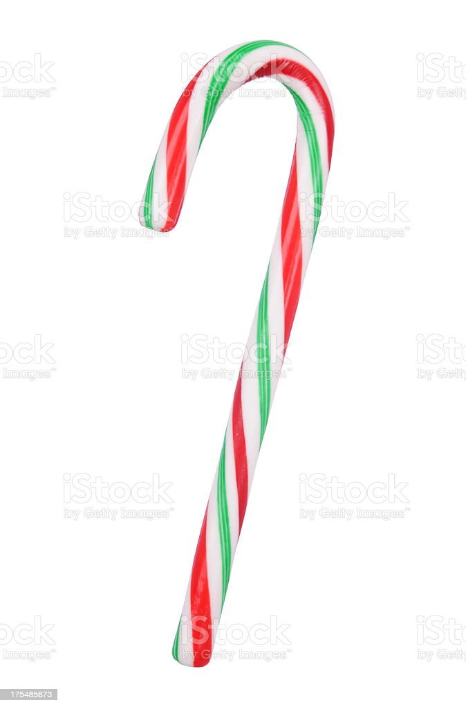 Red And Green Candy Cane stock photo