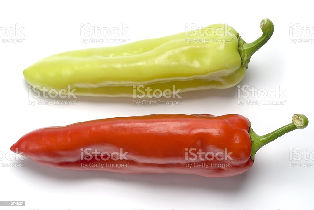 Red and Green Peppers royalty-free stock photo