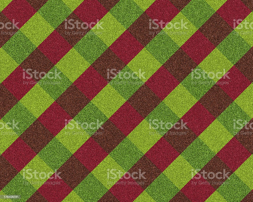 red and green plaid glitter royalty-free stock photo