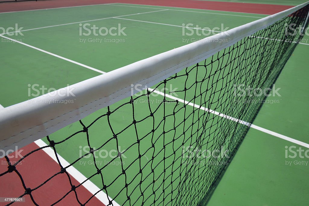 red and green tennis court royalty-free stock photo