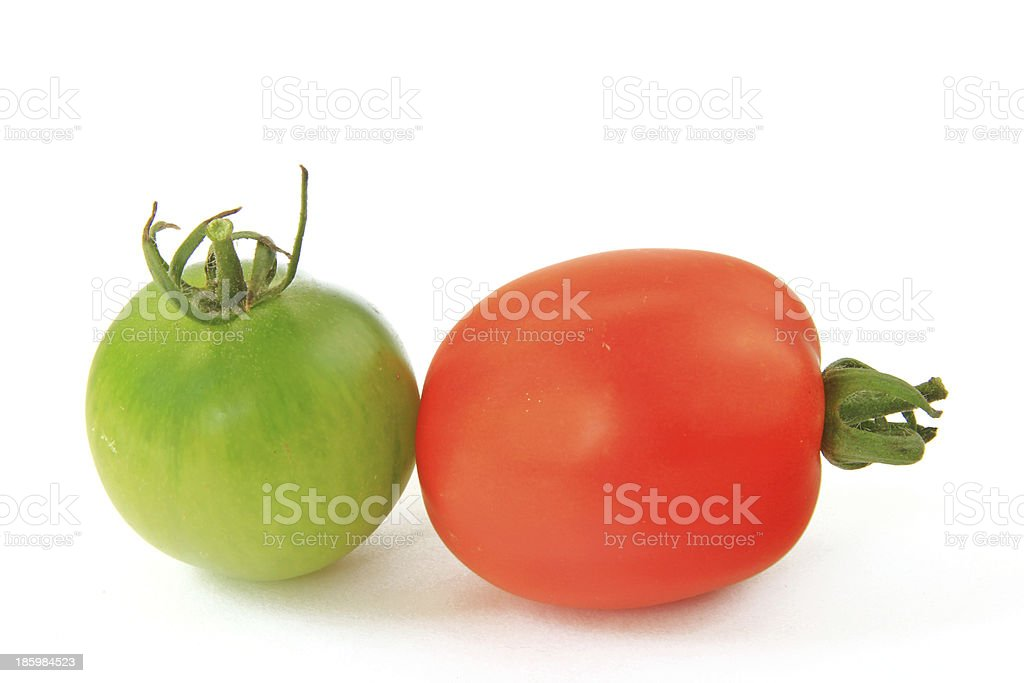 Red and green tomato royalty-free stock photo