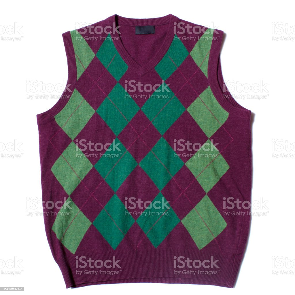 Red and green vest stock photo