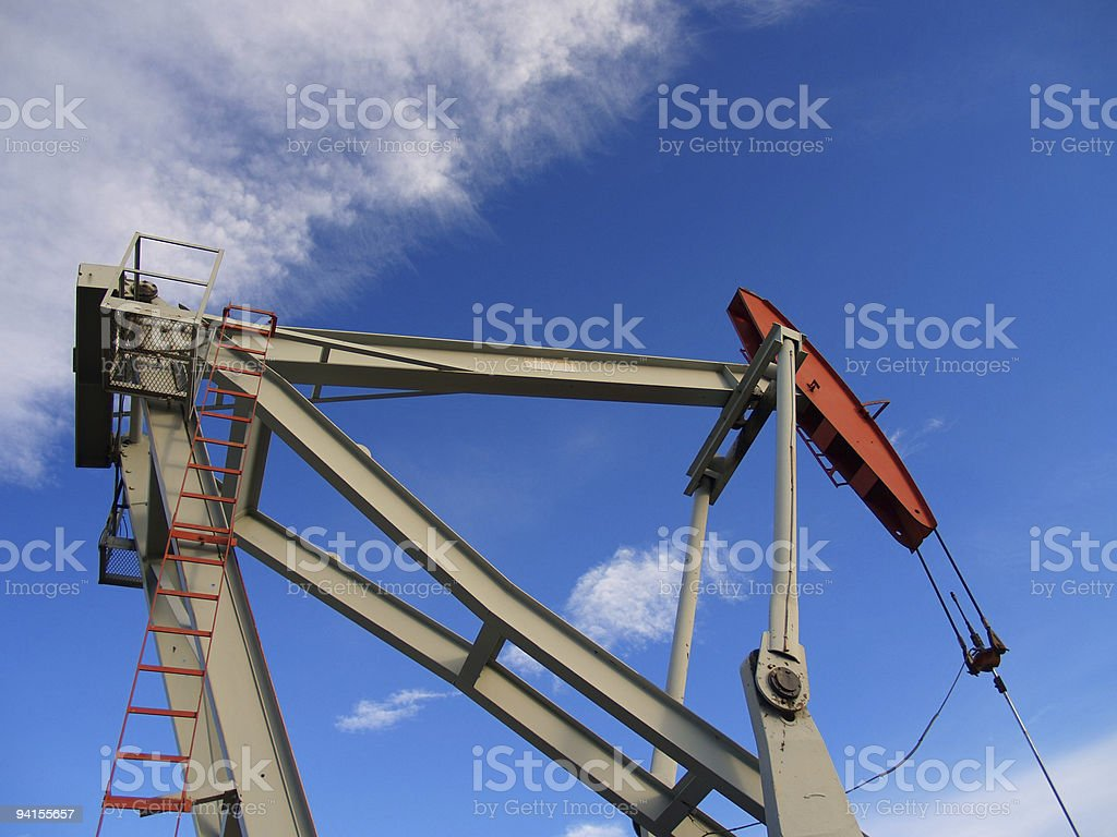 Red and Grey Pumpjack royalty-free stock photo