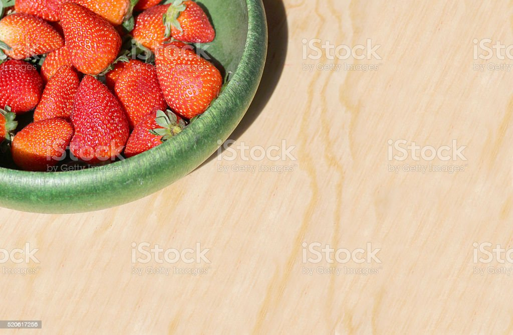 red and juicy strawberries stock photo
