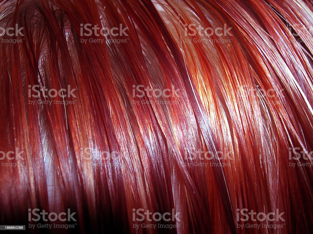 Red and Orange Hair 02 stock photo