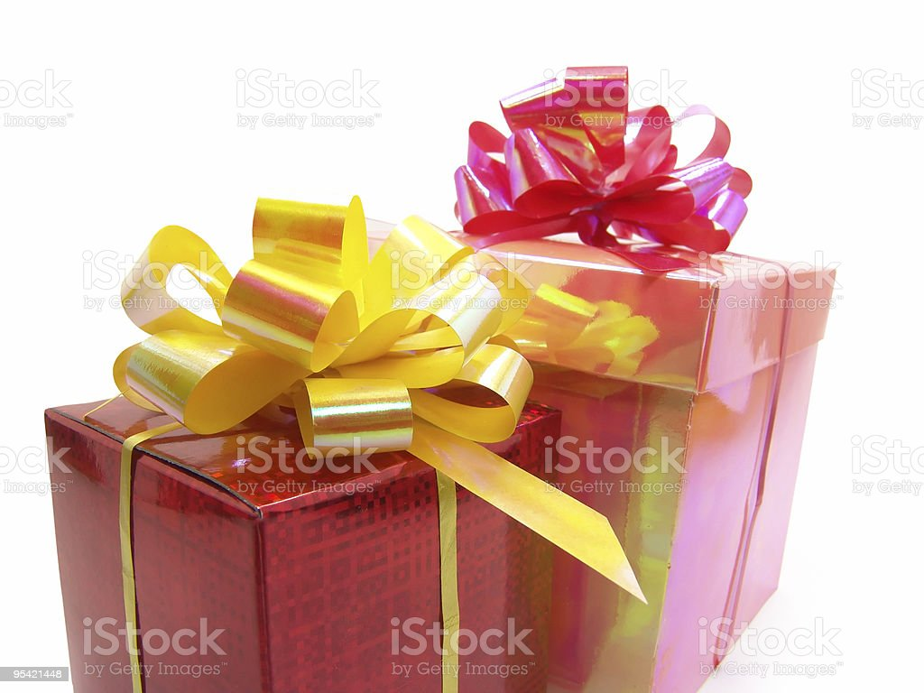red and pink boxes royalty-free stock photo