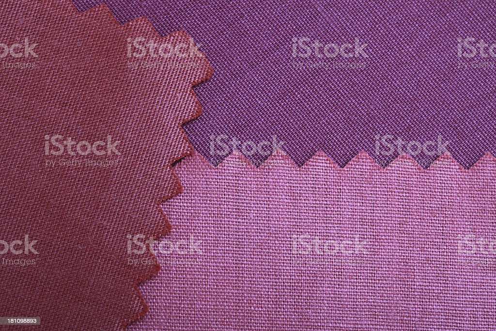 Red and Purple Fabric Swatch Background royalty-free stock photo