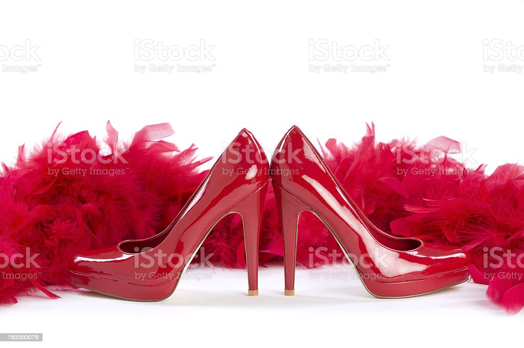red and sexy stock photo