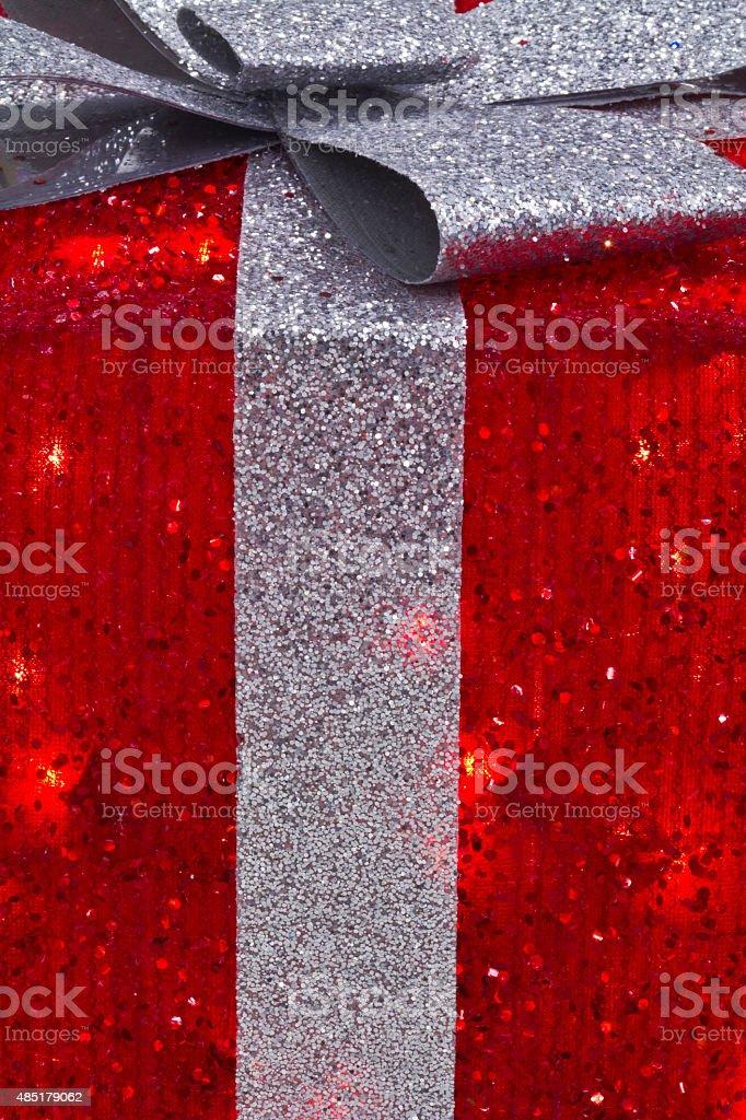 Cadeau de Noël rouge et argent photo libre de droits