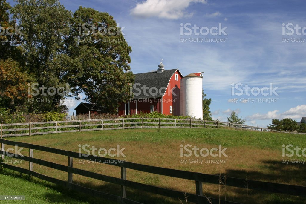 Red and White Barn royalty-free stock photo