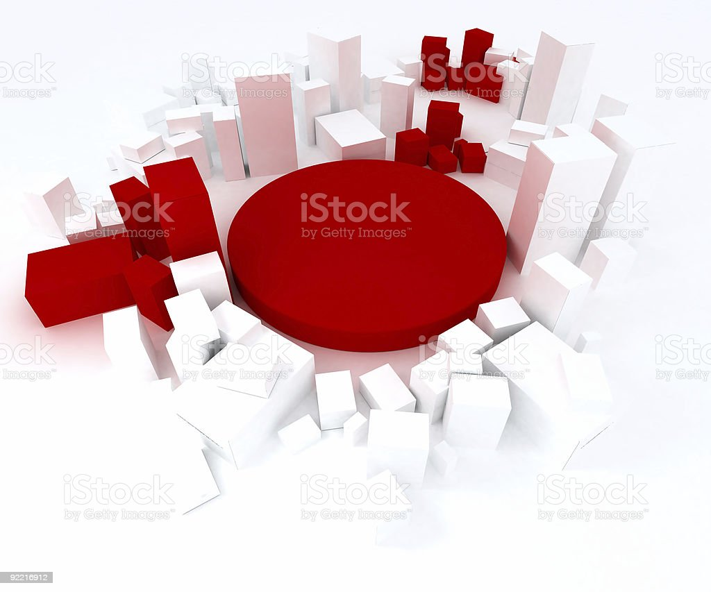 Red and white blocks royalty-free stock vector art