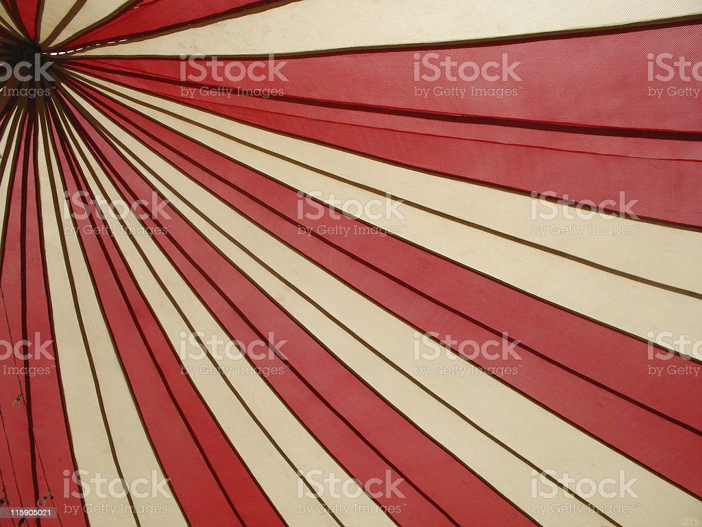 Red and white canopy stock photo