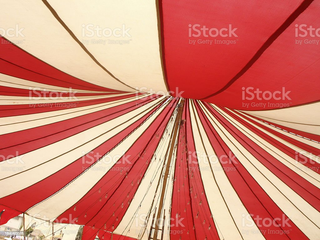 Red and white canopy royalty-free stock photo