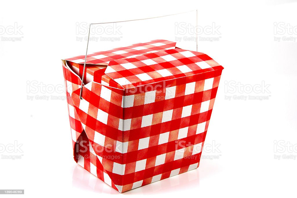 Red and White Carton royalty-free stock photo