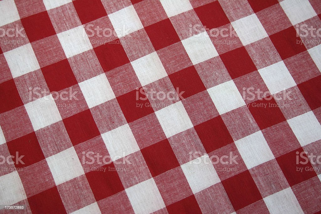 Red and White Check royalty-free stock photo