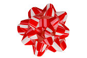 Red and White Christmas Bow