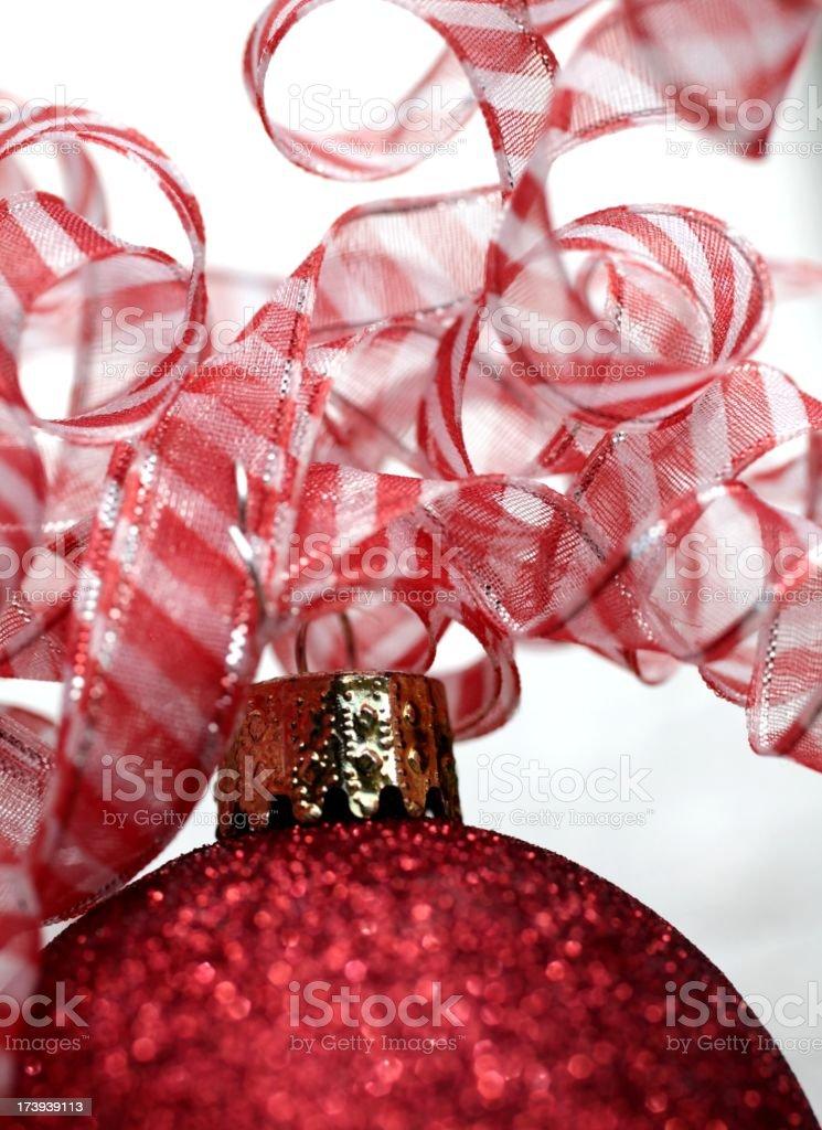 Red and White Christmas Macro stock photo