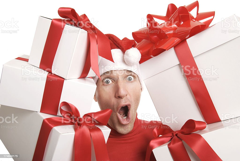 Red and White Gifts Big Surprise royalty-free stock photo