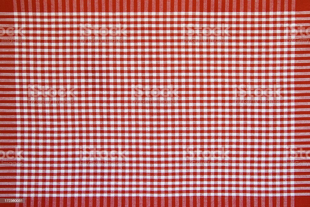 Red and white gingham royalty-free stock photo