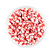 Red and White Glass Seed Beads