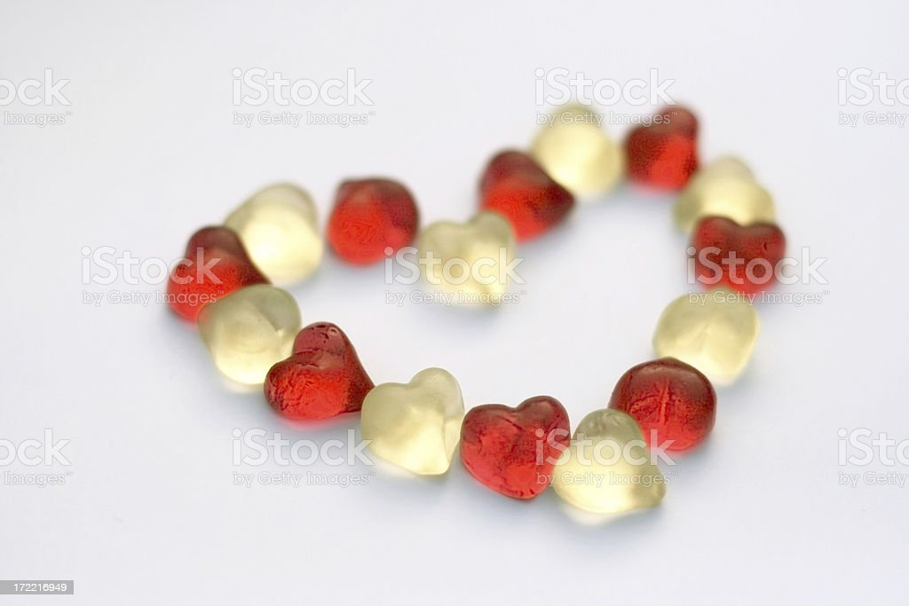 Red and white heart-shape royalty-free stock photo