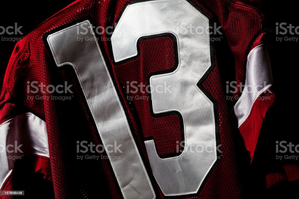 Red and white jersey royalty-free stock photo