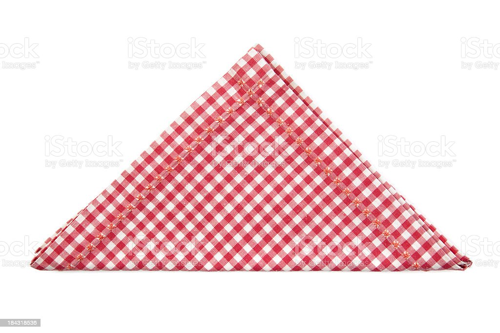 Red and white napkin stock photo