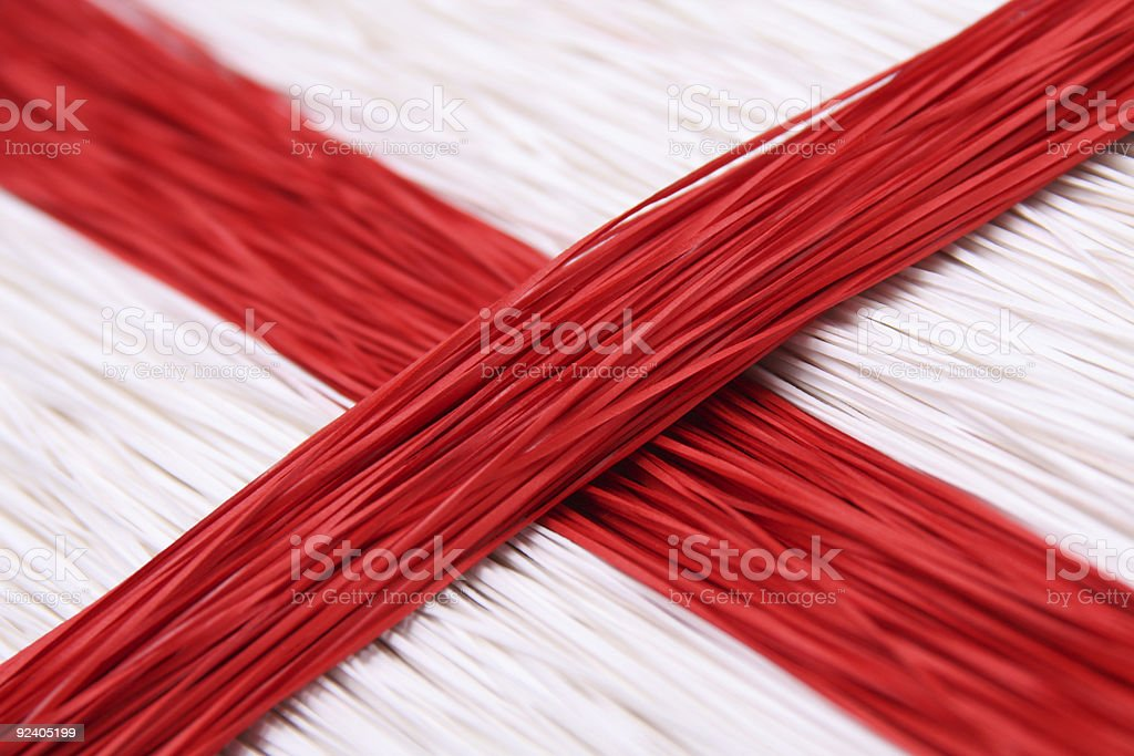 red and white paper trimmings royalty-free stock photo