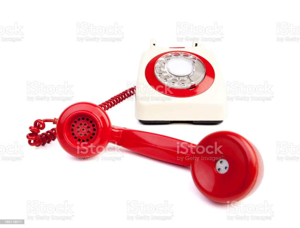 REd and white phone royalty-free stock photo