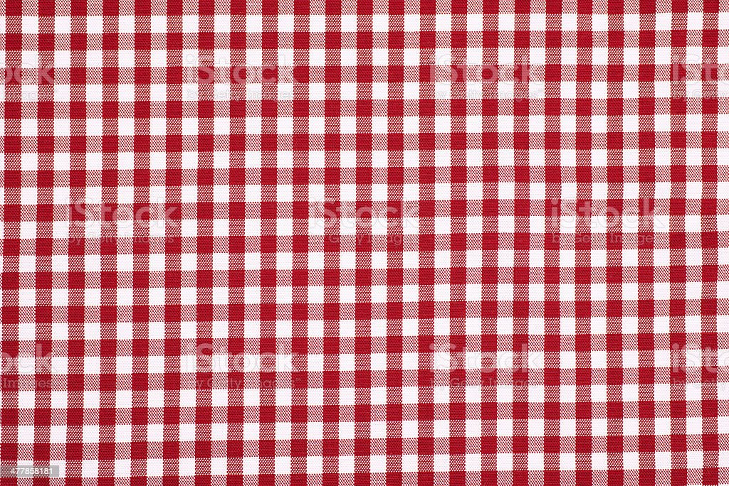 red and white plaid fabric stock photo
