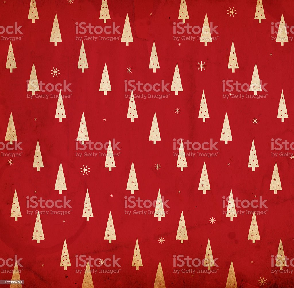 A red and white retro Christmas background stock photo