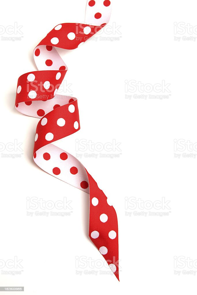 Red and white ribbon royalty-free stock photo