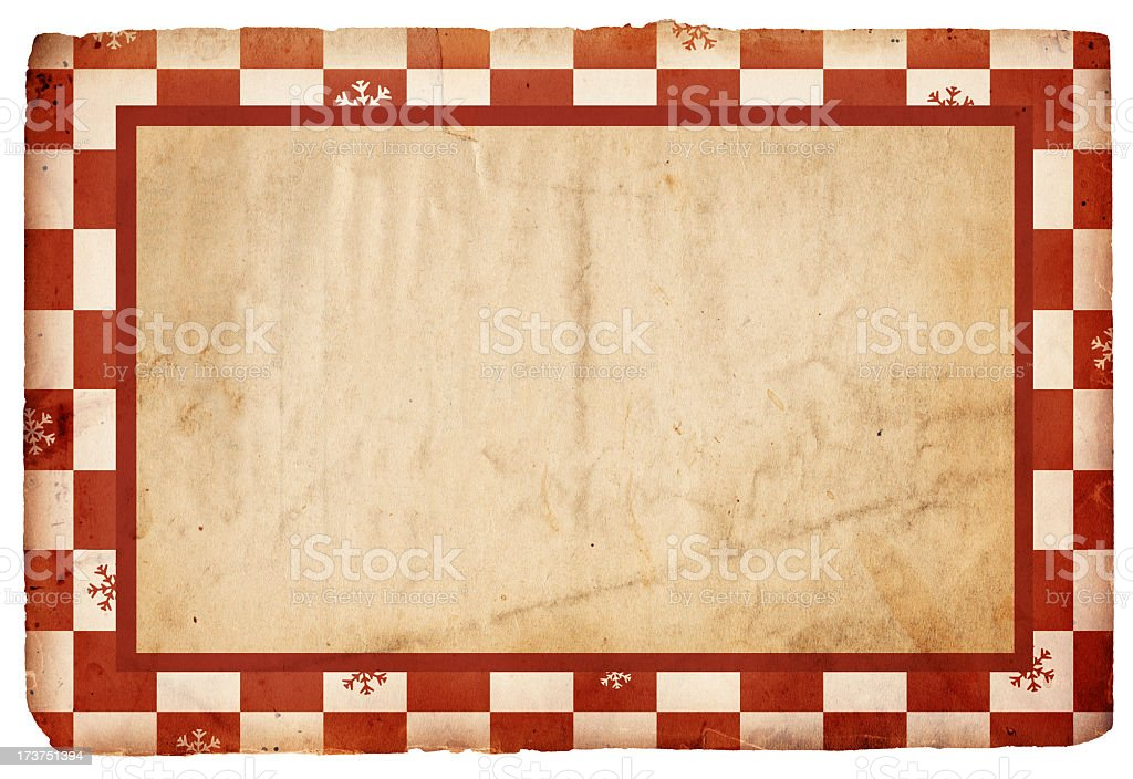 Red and White Snowflake Paper XXXL royalty-free stock photo