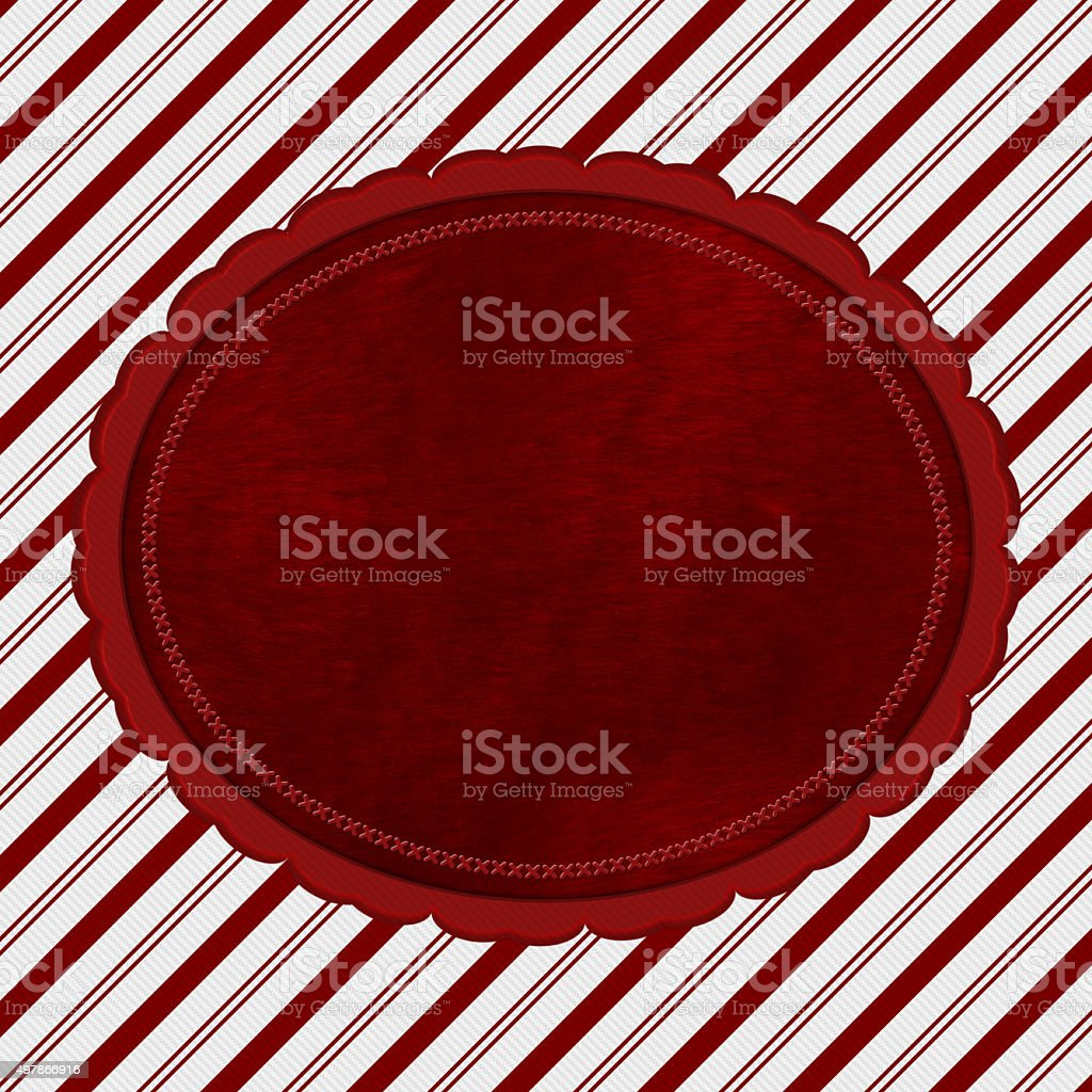Red and White Striped Candy Cane Striped Background stock photo