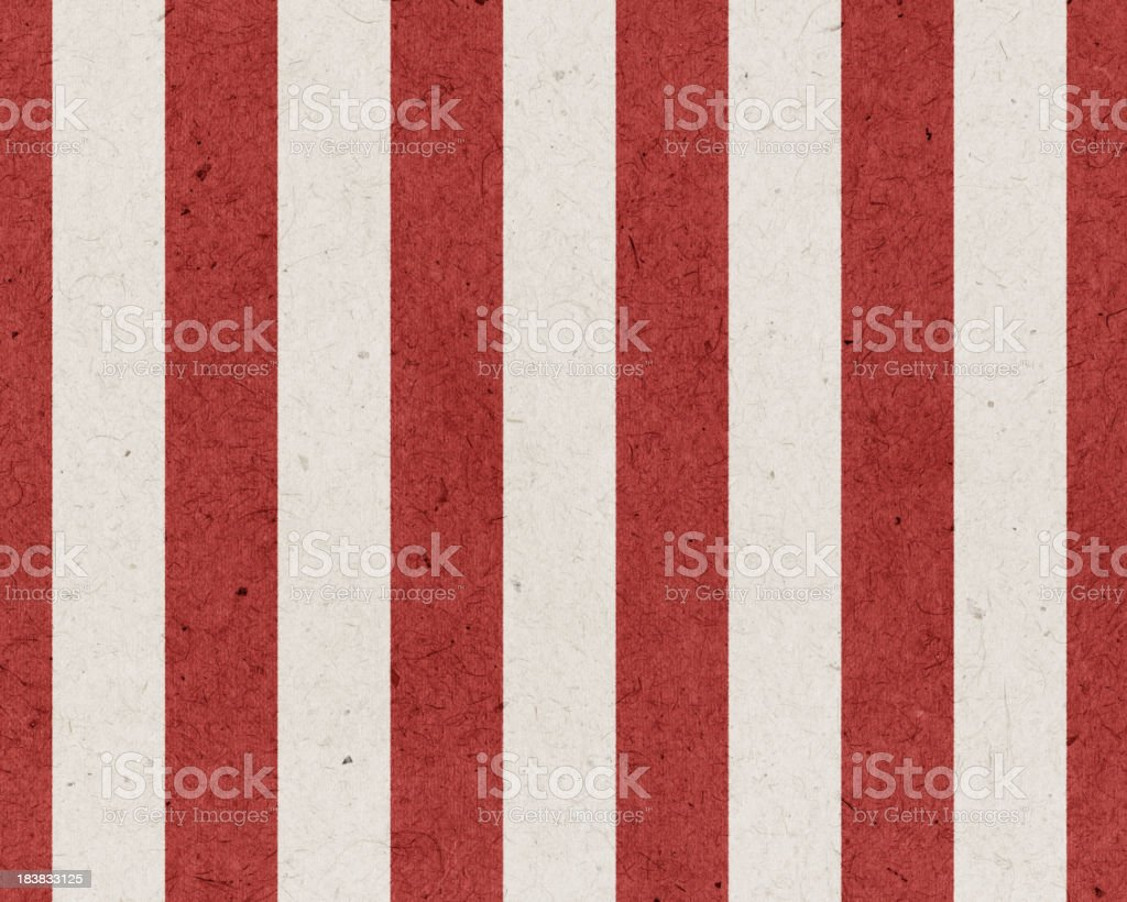 High resolution red and white striped paper vector art illustration