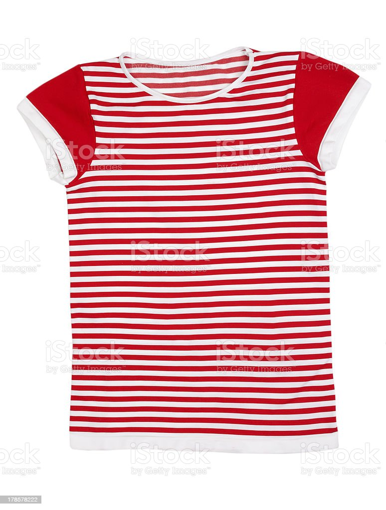 Red and white striped sport shirt stock photo