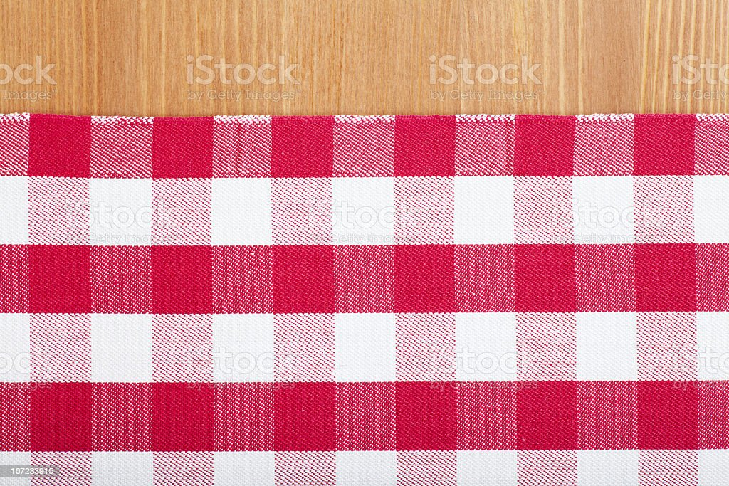 Red and white tablecloth royalty-free stock photo